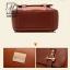 กระเป๋าสะพายเป้กระเป๋าถือ เป้แฟชั่นนำเข้าดีไซน์เก๋ส์ แบรนด์ BEIBAOBAO แท้ B201433-D-BRO (สีน้ำตาลเข้ม) thumbnail 5