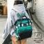 กระเป๋าเป้แฟชั่นงานนำเข้าสไตล์แบรนด์ดัง MB18-01904-GRN (สีเขียว) thumbnail 1