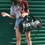 กระเป๋าแฟชั่นนำเข้า ด้านหน้าสกรีน PINK BAI-276-BLK (สีดำ) thumbnail 3