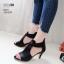 รองเท้าส้นสูงสีดำ ซิปหลัง LB-350-209-ดำ thumbnail 1