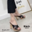 รองเท้าแตะส้นสูงแบบสวมไขว้ 3006-5-ดำ (สีดำ) thumbnail 2
