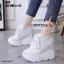 รองเท้าผ้าใบเสริมส้นสีขาว รองเท้าผ้าใบเสริมส้นสูง2นิ้ว thumbnail 1