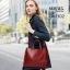 กระเป๋าสะพายผู้หญิงหนังอยู่ทรง มีแบบหนังเงาและหนังด้าน DM302-แดง (สีแดง) thumbnail 2