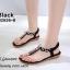 รองเท้าแตะรัดส้นสีดำ พื้นนิ่ม B2626-8-ดำ thumbnail 3