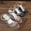 รองเท้ารัดข้อเปิดท้ายส้นเตารีดสีดำ LB-ST011-BLK thumbnail 5