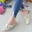 รองเท้าส้นเตี้ยสีแอปริคอท สลิปออนเปิดส้น 321-998-APR thumbnail 2