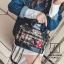 กระเป๋าแฟชั่นงานนำเข้าดีไซน์เก๋ส์สไตล์แบรนด์ดัง MB18-02504-BLK (สีดำ) thumbnail 5