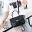 กระเป๋าแฟชั่นงานนำเข้าหนังปั๊มลายจระเข้สุดหรู MB18-02304-BLK (สีดำ) thumbnail 4