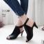 รองเท้าส้นสูงหน้าเต็มสีดำ งานสไตล์ปราด้า รัดข้อ LB-1202-ดำ thumbnail 2