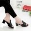 รองเท้าเตารีดสีดำ หน้าทรงปราด้าส้นแมกซี่ 957-92-ดำ thumbnail 1