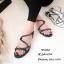 รองเท้าแตะโซ่ไขว้ M18-053-ดำ (สีดำ)