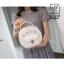 กระเป๋าสะพายกระเป๋าถือ แฟชั่นนำเข้าทรงกลม AX-12350-CRM [สีครีม] thumbnail 5