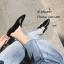 พร้อมส่ง รองเท้าแตะหนังกลับ ขอบขน 1686-ดำ [สีดำ] thumbnail 3