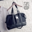 กระเป๋าสะพายกระเป๋าถือกระเป๋าเดินทาง TRAVEL BAG ดีไซน์เก๋ส์ MB-17055-BLK (สีดำ) thumbnail 1