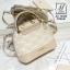 กระเป๋าสะพายกระเป๋าถือ แฟชั่นนำเข้าสไตล์คุณหนู แบรนด์ axixi แท้ AX-12443-CRM (สีครีม) thumbnail 3