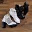 รองเท้าบูทสีดำ เปิดหน้า งานนำเข้า100% ST618-BLK thumbnail 5