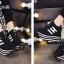 รองเท้าผ้าใบสีดำ ST8029-BLK thumbnail 3