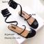 รองเท้าแตะแตะพันขาสีดำ Q-03-ดำ thumbnail 2