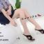 พร้อมส่ง รองเท้าส้นแก้วหน้าไขว้ 17-2291-BLK [สีดำ] thumbnail 3