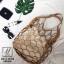 กระเป๋าสะพายกระเป๋าถือ แฟชั่นนำเข้าสุด chic สไตล์เกาหลี MB18-00908-BRO (สีน้ำตาล) thumbnail 3