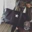 กระเป๋าสะพายกระเป๋าถือกระเป๋าเดินทาง TRAVEL BAG ดีไซน์เก๋ส์ MB-17055-BLK (สีดำ) thumbnail 5
