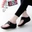 รองเท้าลำลองส้นเตารีดแบบคีบสีดำ LB-268-ดำ thumbnail 1