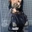 กระเป๋าสะพายกระเป๋าถือ แฟชั่นงานนำเข้าใบใหญ่แต่งหมุดสวยเก๋ส์ MB18-01209-BLK [สีดำ] thumbnail 1