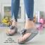 รองเท้าแตะพื้นสุขภาพสีเทา งานเย็บหน้ากุหลาบ 992-30-GREY thumbnail 1