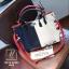 กระเป๋าแฟชั่นงานนำเข้าใบใหญ่ดีไซน์สุดเก๋ส์ MB18-02503-BLU (สีน้ำเงิน)
