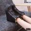 รองเท้าผ้าใบสีดำ ST01-BLK thumbnail 3