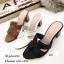 รองเท้าแตะสไตล์Hสีตาล ส้นเหลี่ยม J331-ตาล thumbnail 2