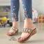 รองเท้าแตะคีบโป้งโบฮีเมียนสีตาล สวยล้ำ 316-1-ตาล thumbnail 1