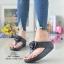 รองเท้าแตะพื้นสุขภาพสีดำ งานเย็บหน้ากุหลาบ 992-30-ดำ thumbnail 1