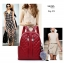 กระเป๋าเป้ผู้หญิงหนัง pu เย็บลายข้ามหลามตัดด้านหน้า BAG-074-แดง (สีแดง) thumbnail 2