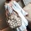 กระเป๋าสะพายกระเป๋าถือ แฟชั่นนำเข้าสุด chic สไตล์เกาหลี MB18-00908-BRO (สีน้ำตาล) thumbnail 4