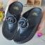 รองเท้าแตะพื้นสุขภาพสีดำ งานเย็บหน้ากุหลาบ 992-30-ดำ thumbnail 3