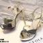 รองเท้าส้นสูงรัดข้อเปิดท้ายสีทอง LB-ST208-GLD thumbnail 5