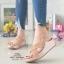 รองเท้าแตะพื้นสุขภาพสีแดงกุหลาบ หน้าไขว้สวยหรู 6651-581-ROSE thumbnail 2