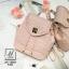 กระเป๋าสะพายเป้กระเป๋าถือ เป้แฟชั่นนำเข้าสุดน่ารัก AX-12285-PNK (สีชมพู) thumbnail 5