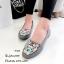 รองเท้าส้นแบนวัสดุหนังกลับ Style Brand Kenzo TG-264-เทา (สีเทา) thumbnail 2