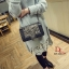 กระเป๋าแฟชั่นนำเข้าสะพายข้าง style CHANEL BOY OVL-0001L-BLK (สีดำ) thumbnail 2