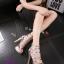 พร้อมส่ง รองเท้าส้นสูง วัสดุหนังแววเงา 17-1283-SIL [สีเงิน] thumbnail 2