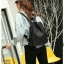แบบมาใหม่ ทรงสุดฮิต กระเป๋าเป้ผู้หญิงผ้าไนล่อนสีสันสดใส 1185-ดำ (สีดำ) thumbnail 3