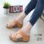รองเท้าส้นเตารีดสีน้ำตาล หนัง pu LB-961-57-น้ำตาล thumbnail 1