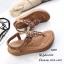 รองเท้าลำลองแบบคีบสีแทน วัสดุหนังนิ่ม SP001-แทน thumbnail 3