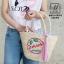 กระเป๋าถือกระเป๋าสาน สาน handmade งานนำเข้าสไตล์เกาหลี MB18-00303-CRM (สีครีม) thumbnail 2
