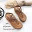 รองเท้าลำลองแบบคีบสีแทน วัสดุหนังนิ่ม SP001-แทน thumbnail 2