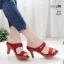 รองเท้าหัวแหลมสีแดง ส้นทอง สไตล์ซาร่าห์ LB-2323-แดง thumbnail 1