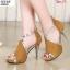 พร้อมส่ง รองเท้าส้นสูงหุ้มส้นเปิดหน้า ST1619-YEL [สีเหลือง] thumbnail 2
