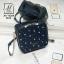 กระเป๋าสะพายกระเป๋าถือ แฟชั่นนำเข้าทรง box สไตล์คุณหนู AX-12364-BLU (สีน้ำเงิน) thumbnail 2